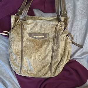 KATHY VAN ZEELAND giraffe print shoulder bag